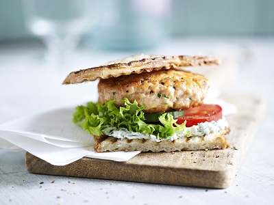 Salmon Salad Sandwiches on Ciabatta